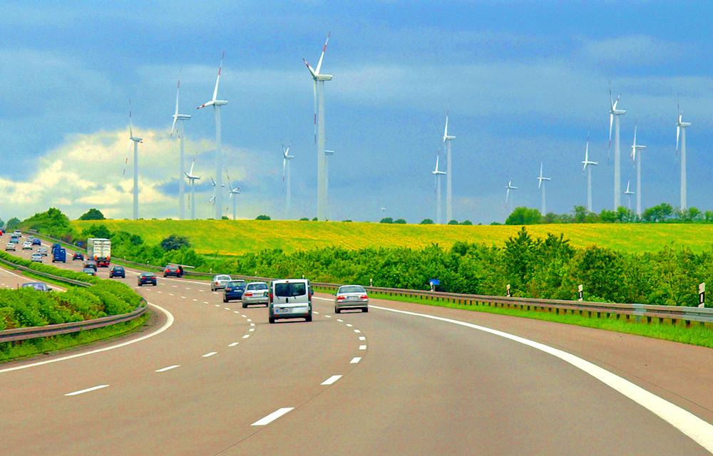 Autobahn/Windräder