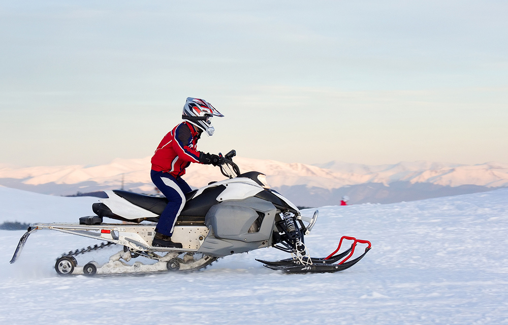 Snowmobile in the outdoors