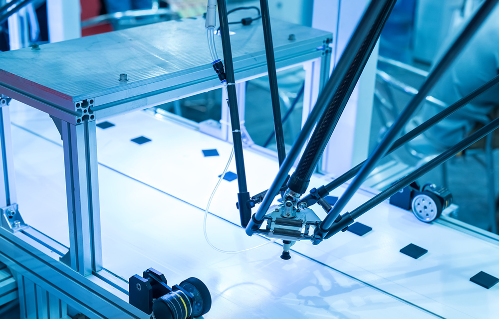 Industrial robot working in factory,Conveyor Tracking Controler