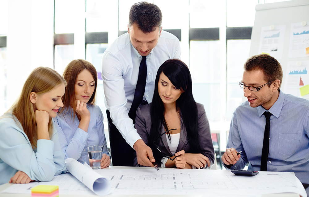Group of business people discussing new project