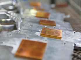 Aus einem Guss: Kühlkörper aus Aluminium und Kupfer