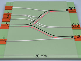 Data transmission with printed optical waveguides