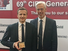 Dr Benjamin Bergmann receives F.W. Taylor Medal Award