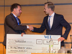 Dr.-Ing. Oliver Suttmann is awarded the WLT Prize for Laser Technology