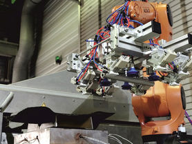 Mass production of lightweight composite parts