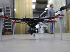 Three-dimensional factory layout with UAV scan